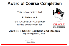 Award for MOOC about lambdas and streams